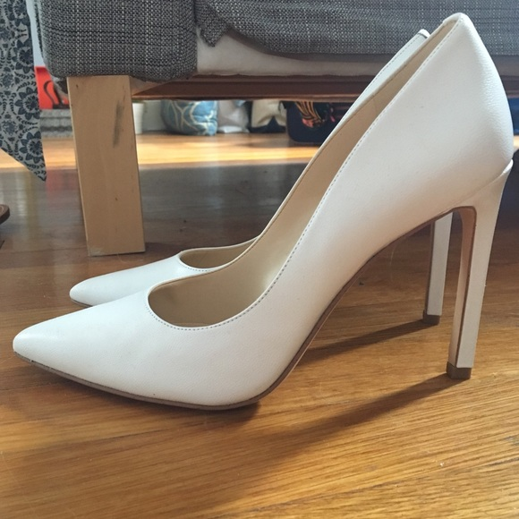 b79135a403 Nine West Leather Tatiana Pump Heels in White. M_5b4a673f2e1478e795213fa7